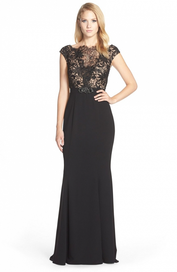 Lace Bodice Mother of the Bride Gown