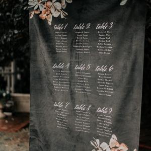 Fabric seating chart