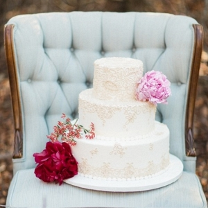 Wedding Cake on a Vintage Chair