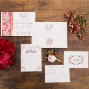 Elegant Red Wedding Stationery
