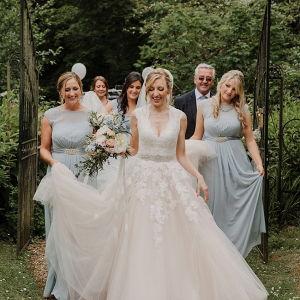 Light blue bridal party