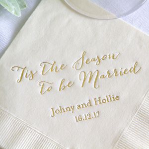 Tis the Season Wedding Napkins