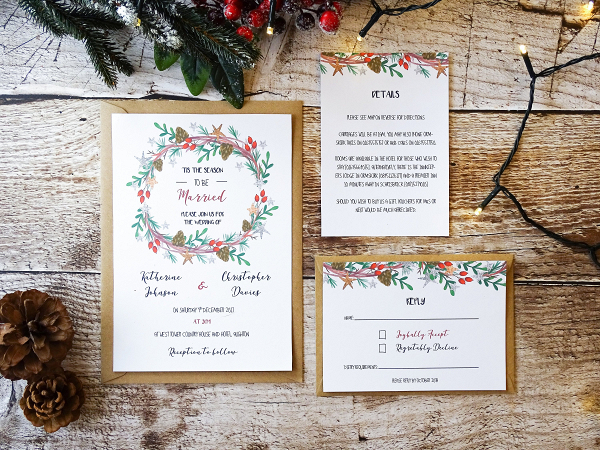 Christmas Wedding Invitations.Tis The Season Wedding Invitation Aisle Society