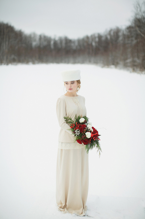 Traditional Russian Christmas Bride