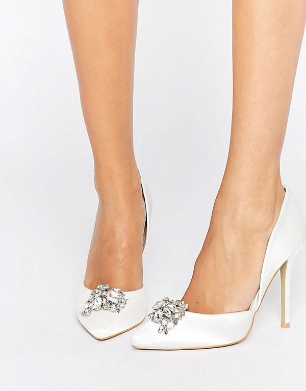 True Decadence Satin Embellished Pumps