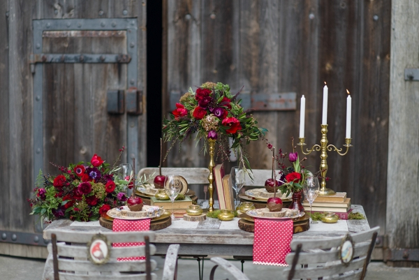 Oopulent Rustic Fall Wedding Tablescape