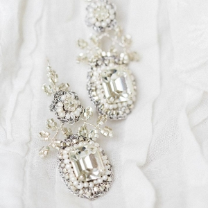 'Victorine' Crystal Bridal Earrings