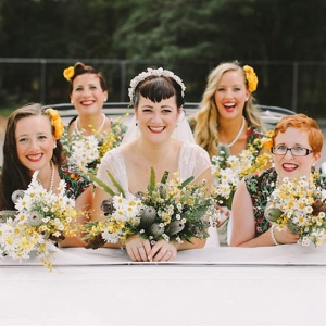 1950s Inspired Bride & Bridesmaids