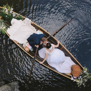 Vintage Row Boat Wedding Getaway
