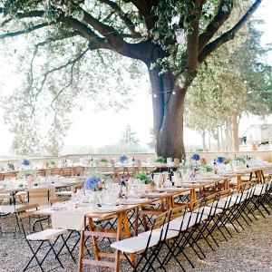 Romantic Outdoor Wedding Reception in a Tuscan Villa