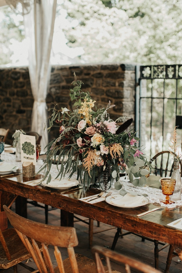 Garden Wedding Floral Centerpiece