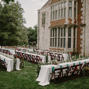 Outdoor estate wedding reception
