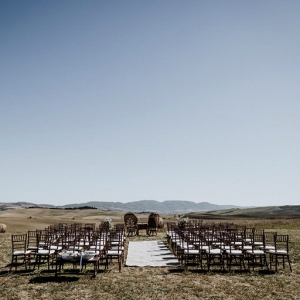 Outdoor Tuscany wedding ceremony