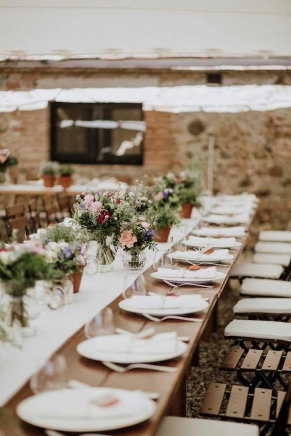 Italian villa wedding reception