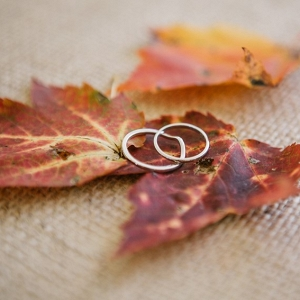 Wedding rings for a rustic fall wedding
