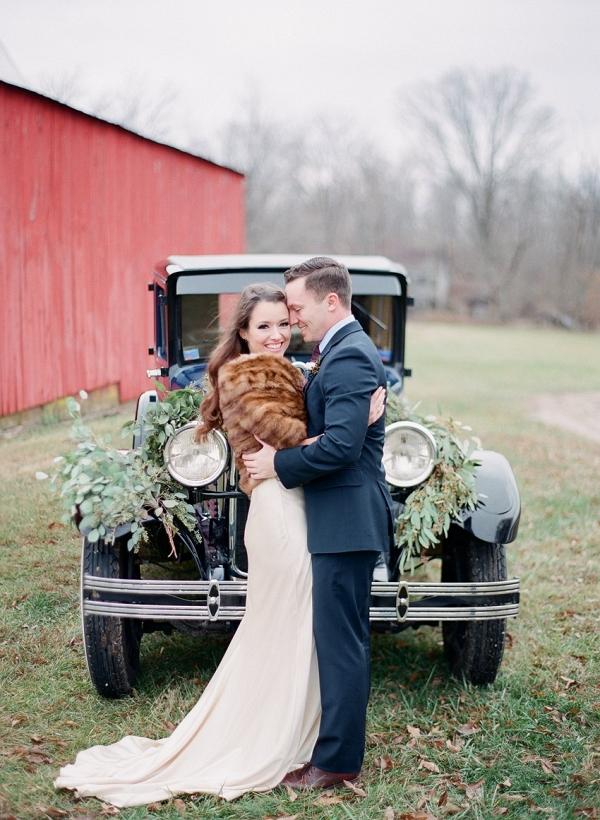 Romantic Vintage Inspired Bride & Groom