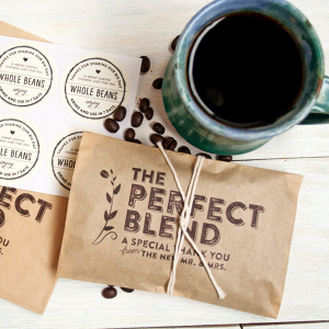 Coffee Bag Wedding Favours - The Perfect Blend