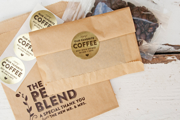 Kraft Paper Coffee Bag Wedding Favors