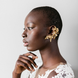 Wild Flowers & Leaves Ear Cuff