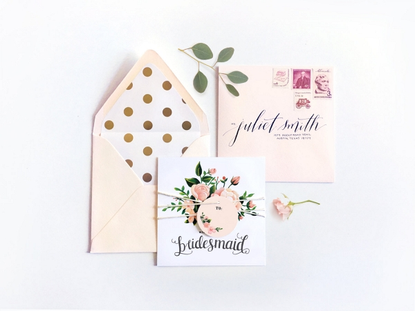'Will You Be My Bridesmaid?' Floral Card