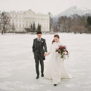 Winter Austrian wedding portrait by Greg Fink