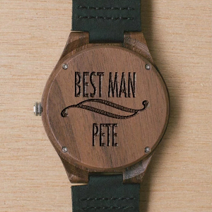 Wooden Best Man's Watch