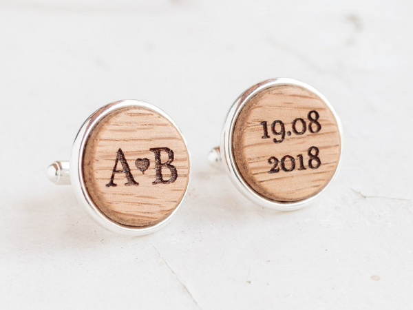 Personalised Wood Cufflinks