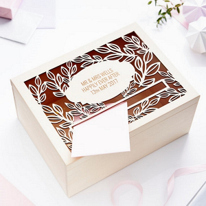 Personalised Vine Wedding Card Box