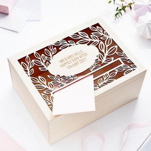 Personalised Vine Wedding Card Box