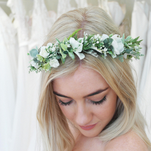 Ivory & Greenery Flower Crown