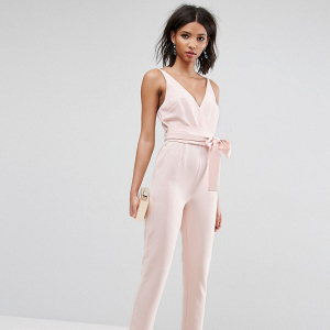 Wrap Front Bridesmaid Jumpsuit