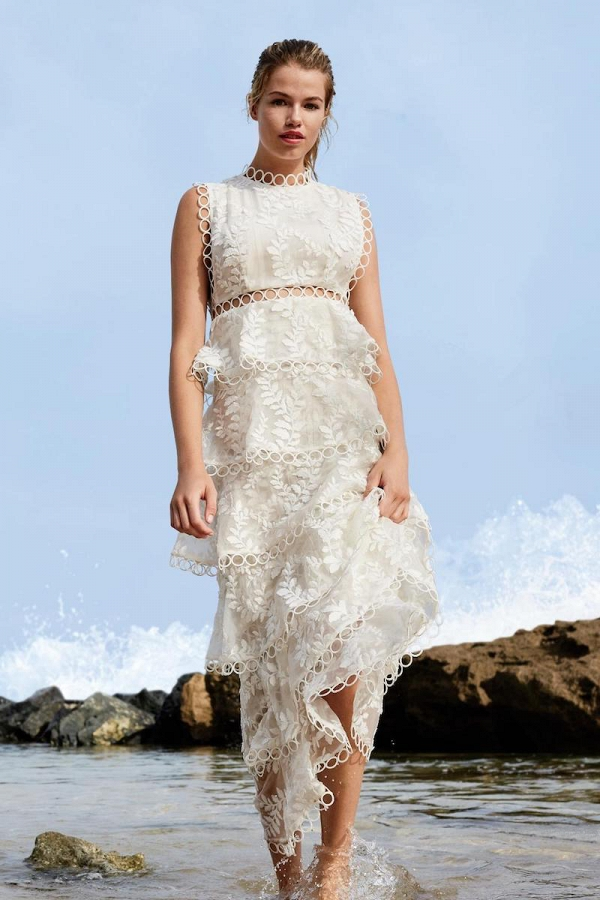 Zimmermann Winsome Tier Vine Silk Wedding Dress