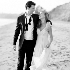 Black Tie engagement on the beach