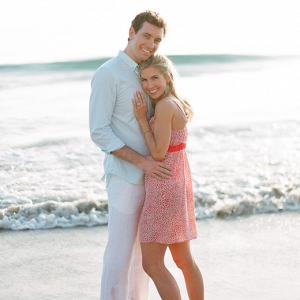 Beach engagement in Santa Barbara