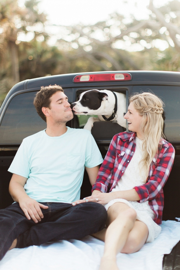 Florida Beach Engagement Featuring A Dog