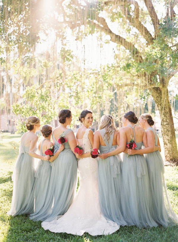 Bridesmaids In Powder Blue