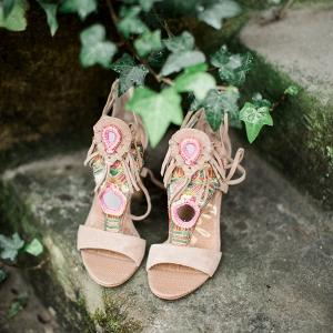 Bohemian Wedding Heels