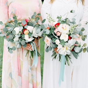Loose Organic Bouquets With Eucalyptus