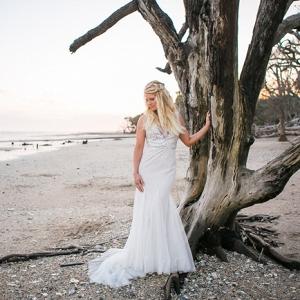 Botany Bay Bridal Portraits In Edisto Island, SC