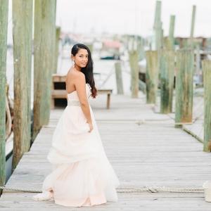 Blush Bridal Portraits At The Charleston Marina
