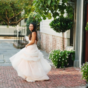 Blush Bridal Portraits In Downtown Charleston, SC