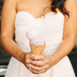Bridal Portraits Featuring Ice Cream