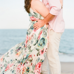 Pastel Carolina Beach Engagement