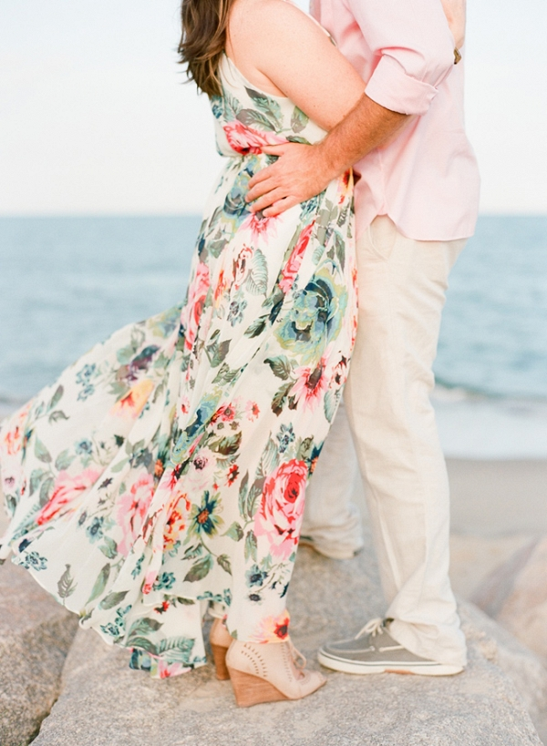 Pastel Carolina Beach Engagement