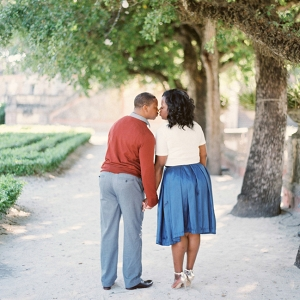 Chic Miami Engagement at Vizcaya Gardens