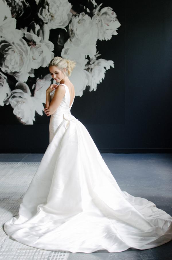 Bride With Navy Backdrop