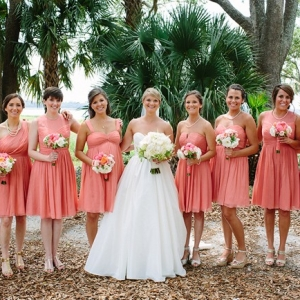 Classic Coral Southern Wedding