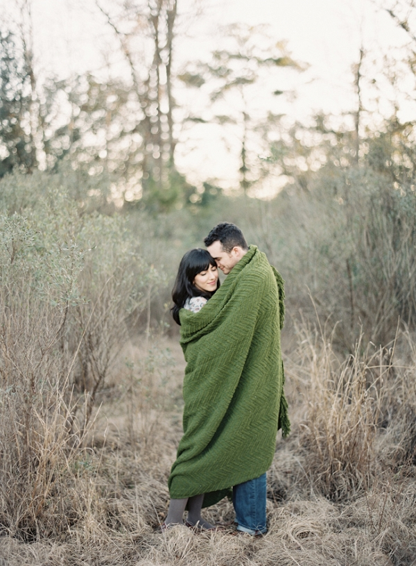 Cozy Autumn Engagement in Charleston Featuring Blankets