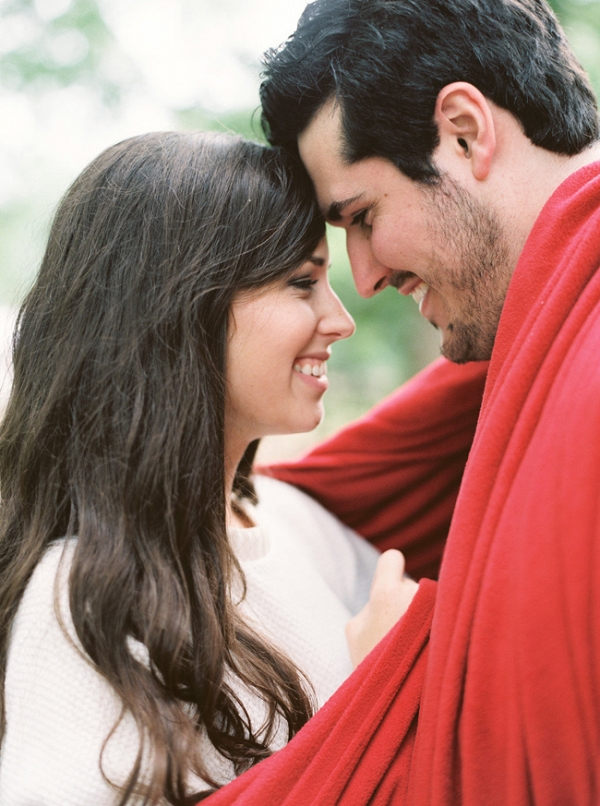 Cozy Holiday Engagement In The North Carolina Mountains