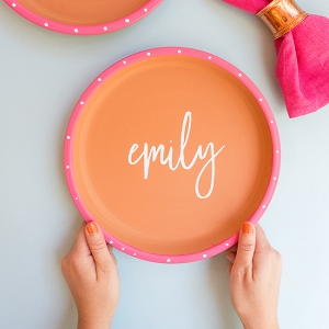 DIY Calligraphy Terracotta Plates